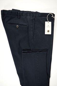 NWT ZANELLA pantalone uomo SPORTIVO cotone STRETCH blu A/I tg. 54-56-58(IT)