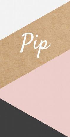 Modern en strak geboortekaartje 10x20 cm met kraft karton look en een patroon van geometrische vlakken in zwart en roze. Stoer en origineel voor meisjes.