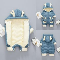 Cute, soft and warm hooded newborns' snowsuit jumpsuit. It is made of cotton and thick as keep your precious baby warm. Perfect for winter, super cute and soft design. Adorable cartoon animals patterns. Great gift for baby shower. Color Options: Blue, Green, Red is available Suitable sizes for babies up to 24 months old. Baby Boy Jumpsuit, Baby Girl Romper, Toddler Jumpsuit, Cute Baby Boy, Cute Babies, Baby Boys, Toddler Boys, Snow Wear, Baby Warmer