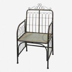 Ornate Galvanized Garden Chair