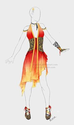 outfit adopt fire dress closed by sellenin-d83g