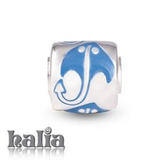 Stingray: A symbol of protection, stingray in blue enamel on sterling silver: designed exclusively by Halia, this bead fits other popular bead-style charm bracelets as well. Sterling silver, hypo-allergenic and nickel free.        $42.00