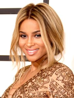 "DARK SKIN Golden  Talk about a golden girl: Ciara's stunning honey-ish hue looks ""natural and soft,"" says Hazan. To steal it for yourself, leave your roots dark (or ask your colorist to give you a dark brown base), then pile on several layers of highlights. ""You want some of them golden beige and some slightly lighter ones mixed in on top,"" says Robinson. ""Keeping the brown roots next to your skin ensures that you don't become washed-out."""