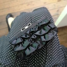 Frilly Clutch & Spotty Frock Frocks, Behind The Scenes, Handbags, Accessories, Fashion, Moda, Totes, Fashion Styles, Purse
