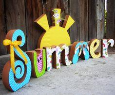Unfinished Wood SUMMER Letters Seasonal Sunny Decor on Etsy, $21.99