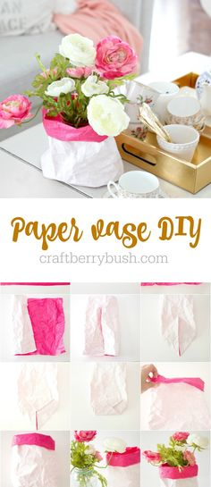 Last week I shared a little peek into our living room looking soft and pretty. Today, I wanted to provide the details and tutorial of this super cute paper vase idea. I love that it can be customiz...