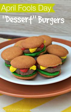 Dessert Burgers for April Fools Day