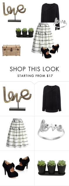 """simple love"" by fred-the-muppet on Polyvore featuring SELECTED, Chicwish and La Preciosa"