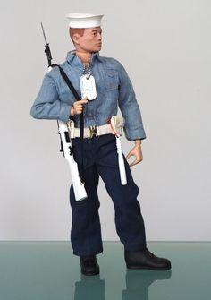 Vintage Toys 1960s, Retro Toys, Military Action Figures, Custom Action Figures, Navy Dress, Men Dress, Gi Joe 1, Old School Toys, Modern Toys