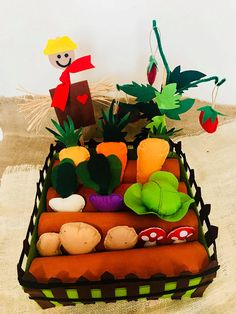 Felt Garden Play Set, It is a fun,educational toy for your kids imagination. It is all handmade and filled with fibers. Some parts are made by gluing some places that used hand and machine sewing. 100% organic, environmentally friendly and healthy. Its durable. When dirty, wipe with a