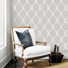 Tiffany Knots Light Grey Removable WallPaper