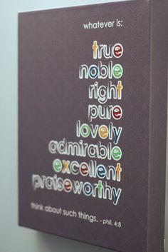 Philippians 4:8 Artwork - Zazzle Wrapped Canvas & Poster Quality Review