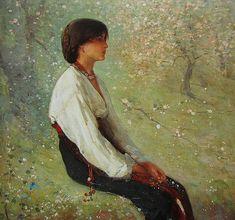 "fangogh: "" The Spring (Detail) - Nicolae Grigorescu "" Mark Rothko, Art Nouveau, Art Database, Vintage Artwork, Art Themes, Beautiful Paintings, Art Images, New Art, Book Art"