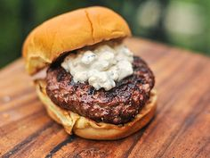 Chunky Blue Cheese Burger Sauce - One of my favorites! Also really good on a steak! (This recipe uses buttermilk for tang - want to try!)