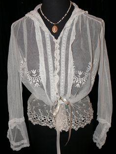 All The Pretty Dresses: Wonderful Net Edwardian Shirt