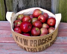 extra large and low bucket of apples by mayalu, via Flickr