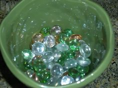 decided to show the emerald in the beads giving them that beautiful clear natural look you see in Emerald Bay Going Natural, Natural Looks, Silverware Holder, Rock Decor, Go Green, Greenery, Emerald, Gems, Nature