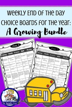 Is the last ten minutes of your day the hardest? Then these choice boards are for you!  Each week, give students a choice board to complete during those last few minutes of the day. The board is organized by multiple intelligences including Writing, Math, Movement, Arts, and Puzzles. The motivating squares will keep all types of learners in your class engaged, plus each activity can be completed quietly or with a partner if you so choose.
