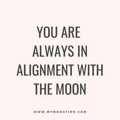 """""""I want to be in alignment with the moon."""" So many females share with me that they are trying to get their menstrual cycle in alignment with the moon.🌙 . Have you consider your unique gorgeous self has her own special relationship with the moon and your body is always doing what it needs to do to be in balance?! . Every female is always in alignment with the moon EVERY SINGLE DAY."""