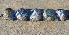 Handmade Lampwork Made to ORDER Single bead Sea Ocean Beach Water Waves Sand Nautical Artisan bead Handmade Bead SRA Generationslampwork