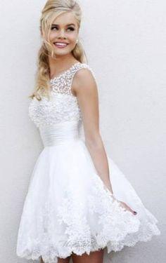 vestido curto rodado para casar no civil - Google Search