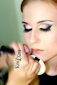 Making of maquiagem luxuosa por Kris Xiva