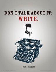Rede nicht drüber - Schreib! // Don't talk about it - write!