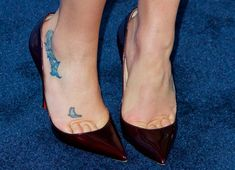 """Lea Michele in Tiny Mini Dress and Unflattering Christian Louboutin """"So Kate"""" Pumps"""