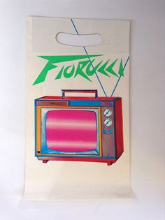 Fiorucci vintage '70s shopping bag television New Wave by PBandW