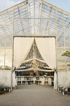Seating Ideas Wedding Book, Chic Wedding, Wedding Details, Wedding Ceremony, Wedding Arches, Backyard Greenhouse, Greenhouse Wedding, Blue And White Dinnerware, Custom Napkins