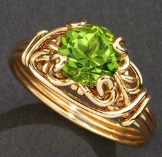 Free Wire Jewelry Designs | Custom Jewelry Designs and Wire Wrapped Jewelry.  Love this! <3 #ringsprojects