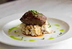 Pork Belly with Wild Mushroom Risotto