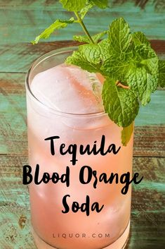 This #tequila blood orange #soda is so refreshing #cocktail that will have you reaching for another before you know it