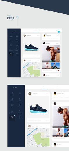 Fitness app : A simple & clean desktop interface on Behance