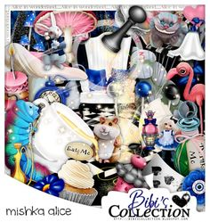 "Kit ""MISHKA ALICE"" by Bibi's Collection matching kit to new Exclusive Commission tube by LadyMishka called ""Bunny 6"" http://scrapsncompany.com/index.php?main_page=product_info&cPath=112_114_168&products_id=18815"