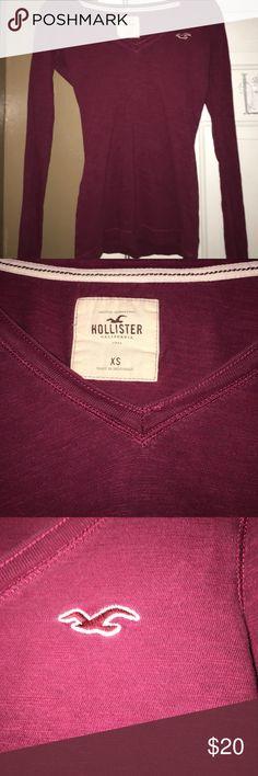 Hollister Light Longsleeve Hollister long sleeve lightweight burgundy color size XS Hollister Tops Tees - Long Sleeve
