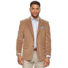 Men's Chaps Slim-Fit Corduroy Stretch Sport Coat, Size: 38 - regular, Beige Oth