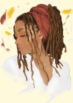 Rasta Art, Anatomy Art, Black Is Beautiful, Dark Skin, Locs, Pencil Drawings, Art Inspo, Curly Hair Styles, Deviantart