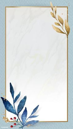 Download premium vector of Christmas golden rectangle frame on blue paper background mobile phone wallpaper vector by Adjima about new year, water frame, marble background blue leaves, Christmas watercolor, and frame vector illustration 1229114