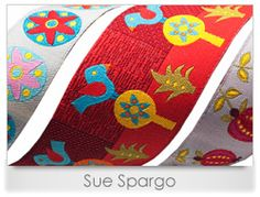 Sue and Wendy's Ribbons from Sue Spargo. Folk Art Quilt Quilting Ribbons Supplies in Ohio