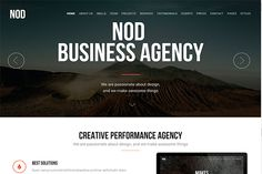 NOD - Business Landing Page HTML by FlyTemplates.com on Creative Market