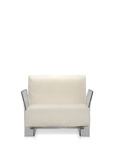 Pop Armchair - Elegant But Comfortable, Chic But Durable, The POP Sofa And Armchair Clad In Five Soft Shades Of White, grey, Black, Beige And Brown Linen With a Transparent Or Black Frame Fits In Perfectly With Any Environment.