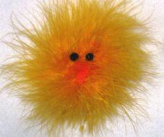 Marabou Chicken Peep Barrette Hair Clip by ChasingCinderella,
