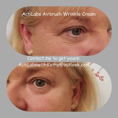 Coming out soon!! Make sure your on my pre-order list! Releasing very soon!!   Airbrush from Acti-Labs!! Instant Wrinkle Correcting Cream!! This serum will instantly tighten and eliminate the looks of wrinkles without leaving a residue on the skin. Soaks into the skin, allowing you to wear makeup!! Lasts all day, and does not get flaky or plastic feeling like other brands!