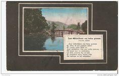 b44. Antique postcard Folklore Latvia poem lyrics landscape view - posted Mitava Vindava in 1913