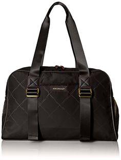 Vera Bradley Preppy Polyester GymYoga Shoulder Bag Black One Size *** You can find more details by visiting the image link.