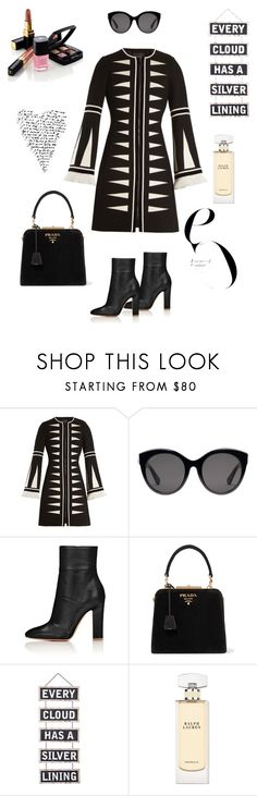 """""""Every cloud has a silver lining ✨"""" by magic-mia ❤ liked on Polyvore featuring Andrew Gn, Gucci, Chanel, Prada, Silver Lining, Ralph Lauren, dreambig, stylish, powerwoman and mindfulness"""