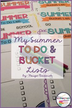Do you have summer to do and bucket lists?  Check out Paige's from Our Elementary Lives and get these adorable FREE lists for yourself.