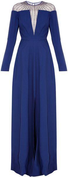 Temperley London Long Crystal Stud Dress - Lyst