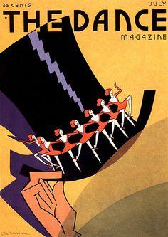 Dance Magazine July 1931 artist Rita Leach